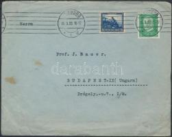 1932 Nothilfe díjkiegészítéssel levélen Budapestre Mi 461