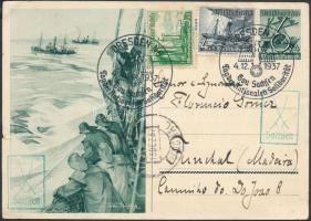 1937 Díjkiegészített díjjegyes levelezőlap Madeirára