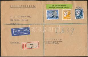1937 Ajánlott légi levél Dél Afrikába