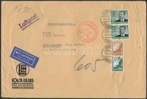 1937 Nagyalakú légi levél Argentínába