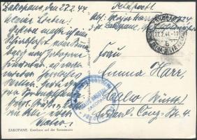 1944 Tábori posta képeslap Zakopanéból