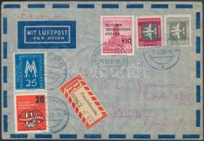 1958 Légi levél Gyöngyösre