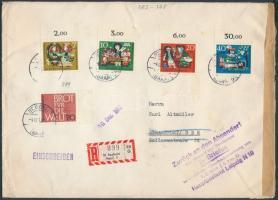 1962 Ajánlott levél az NDK-ba, visszairányítva mert ajándékot tartalmazott