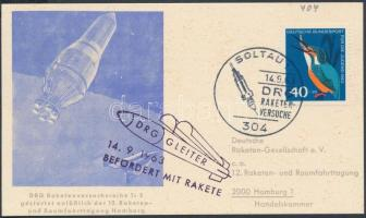 1963 Rakétaposta levelezőlap