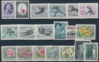 1962-1964 25 klf önálló érték + 6 klf sor 3 db stecklapon