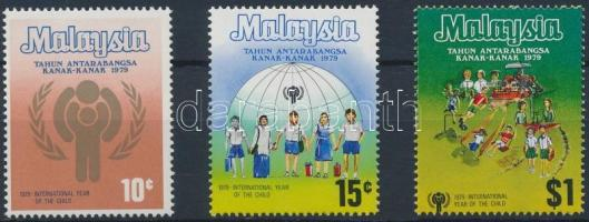 1979 Nemzetközi Gyermek év sor Mi 199-201