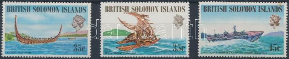 1971-1974 Ships 3 diff closing values from set, 1971-1974 Hajó 3 klf sor záróérték
