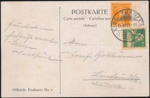 1922 Szövetségi tornaünnepség képeslap megfelelő alkalmi bélyegzéssel