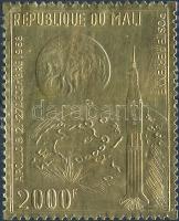 1969 Apollo 8 aranyfóliás bélyeg Mi 204