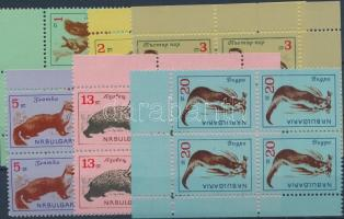 1963 Állatok 6 ívsarki négyestömb Mi 1377-1382
