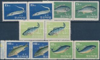 1962 Halak 5 pár (közte 2 ívszéli) Mi 408-412