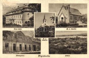 Nógrádverőce, Ganz üdülő, Római katolikus templom és kápolna, községháza (Rb)