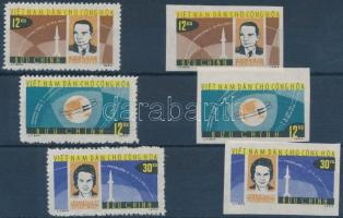 1964 Vosztok 5-6 fogazott + vágott sor Mi 298-300 + 298-300U