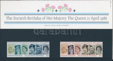1986 II Erzsébet sor 2 párban díszcsomagolásban Mi 1064-1067