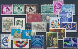 European Union 22 diff stamps, Európai Unió motívum 22 klf bélyeg