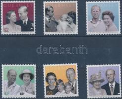 2007 A királyi pár 60. házassági évfordulója sor Mi 1145-1150