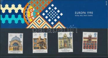 1990 Épületek 2 sor díszcsomagolásban, közte Europa CEPT sor Mi 1261-1264