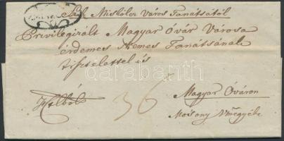 1843 Ex offo V.MISKÓLCZ - Magyar Óvár