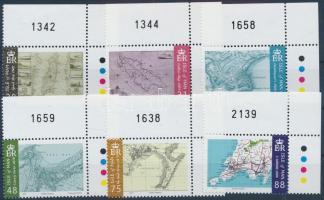 2007 Térképek ívsarki sor Mi 1385-1390