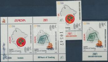 2007 Europa CEPT cserkészet ívszéli sor Mi 137-138 + blokk Mi 6