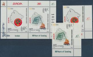 2007 Europa CEPT cserkészet ívsarki sor Mi 137-138 + blokk Mi 6