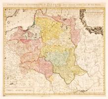 1773 Tobias Mayer; Homann Heirs: Carte des Etats de la couronne de Pologne, régi Lengyelország térkép. Színezett rézmetszet 51x47 cm / 1773 Tobias Mayer; Homann Heirs: Carte des Etats de la couronne de Pologne, map of Poland, Colored etching. 51x47 cm