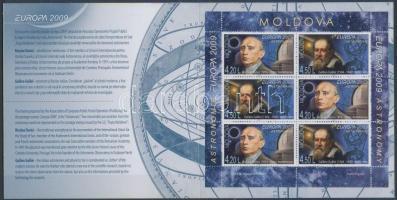 2009 Europa CEPT csillagászat bélyegfüzet MH 14 A (Mi 650-651 A)