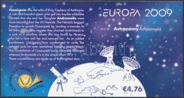 Europa CEPT astronomy stamp booklet, Europa CEPT csillagászat bélyegfüzet