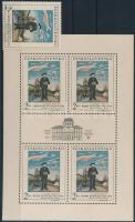 PRAGA stamp exhibition stamp + minisheet, PRAGA bélyegkiállítás bélyeg + kisív