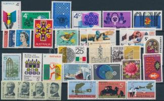 33 stamps (31 diff.), 33 db (31 klf) bélyeg