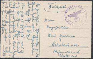 1940 Tábori posta képeslap Bécsből Luftgaupostamt Wien