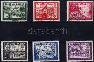 1941 Posta Bajtársi Szövetség (II) sor Mi 773-778