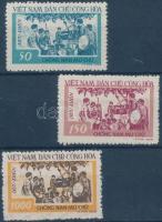 1958 Az analfabetizmus ellen sor Mi 67-69