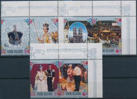 Queen Elizabeth's silevr jubilee corner set in pairs, II. Erzsébet királynő uralkodásának 25. évfordulója ívsarki sor párokban
