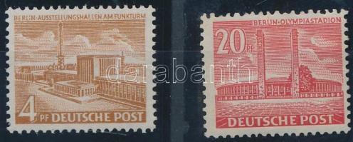 1953 Épületek sor Mi 112-113