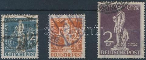 1949 UPU 3 klf érték Mi 35, 37, 41