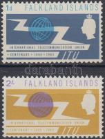 1965 100 éves a Nemzetközi Távközlési Unió sor Mi 149-150