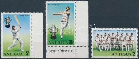 1975 Krikett sor Mi 396-398