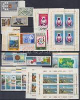 1976-1977 Europe 2 diff block set + 3 diff sets + 6 diff sets, 1976-1977 Európa motívum 2 klf blokksor + 3 klf sor + 6 klf sor 2 db stecklapon