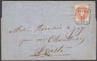 ~1861 5kr levélen FIUME - TRIEST