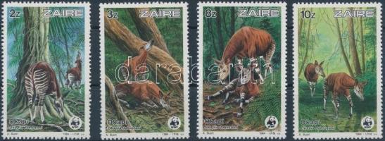 1984 WWF Okapik sor Mi 875-878