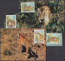 1984 WWF Tigrisek sor Mi 706-709 4 CM