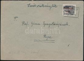 1946 (15.díjszabás) Távolsági levél előző díjszabás szerint feladva az új díjszabás első napján, Betűs (III) Távolsági levél/18f bérmentesítéssel Dodonhelyi postaügyn. bélyegzéssel