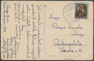 1945 (2.díjszabás) Távolsági képeslap Kisegítő (I) 2P/2P bérmentesítéssel / Domestic postcard