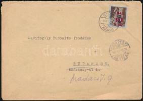 1946 (7.díjszabás) Távolsági levél Betűs (II) Tl.2./10f bérmentesítéssel