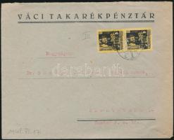 1945 (5.díjszabás) Távolsági levél Kisegítő (III) 2x60P/18f bérmentesítéssel