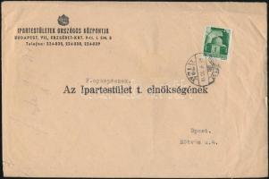 1945 (1.díjszabás) Távolsági levél Hadvezérek 1P bérmentesítéssel (sérült)