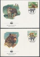 1983 WWF Jaguár sor Mi 719-722 4 FDC