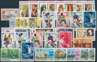 1974-1975 8 klf kiadás + 6 db blokk 3 stecklapon