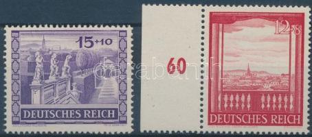 1941 Bécsi vásár sor (közte ívszéli bélyeg) Mi 804-805